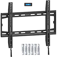 Eono by Amazon - Fixed TV Wall Bracket, Ultra Slim TV Wall Mount for Most 26-55 inch LED, LCD OLED and Plasma TVs with VESA 75x75-400x400mm up to 45.5kg, Super Strong TV Bracket incl. Fischer Anchors