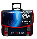 FFF Cartable Scolaire à roulettes Collection Officielle Equipe de France de Football