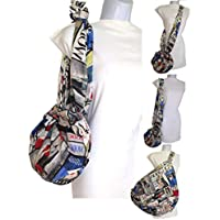 Borsa a tracolla Riviste di moda Una piccola borsa alla moda diventa GIGANTE Salva centinaia di sacchetti di plastica Multi-Purpose. Pulibile
