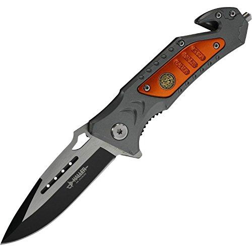 Haller 84683 Rescue Taschenmesser Messer, Schwarz
