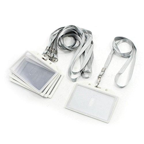 sourcingmap® 5Pz Compagnia Bianco Orizzontale Business Nome Tesserino Card Fermo Con Nylon Cinghia - Cinghia Di Fermo