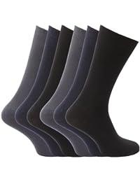 Chaussettes unies avec lycra (lot de 6 paires) - Homme