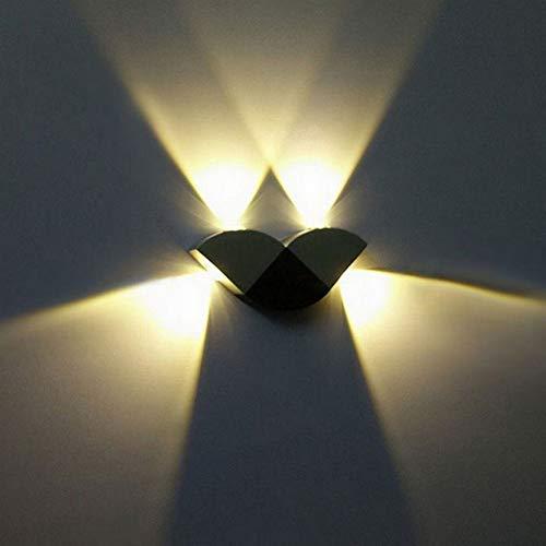 LJL Applique Murale LED 4W en Forme De Papillon Applique Murale en Aluminium en Forme De Papillon pour Mur De Fond D'allée Corridor (Couleur : Blanc)