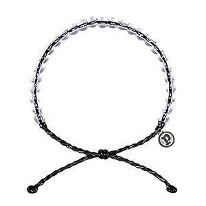 Bohemian Style Weben Armband,Ocean Crystal Bead Armband Schmuck,einstellbare transparente Perlen Seil Armband,für Geburtstag Hochzeit Cocktail Party Urlaub,Geschenk für Freunde Liebhaber