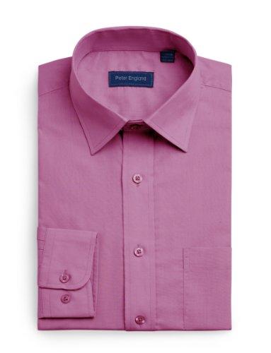 peter-england-da-uomo-tinta-unita-camicia-mulberry-42