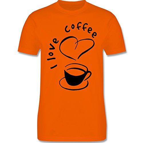 Küche - I Love Coffee - Herren Premium T-Shirt Orange