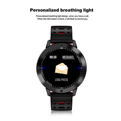 molre-yan Bluetooth SmartWatches Smart Armband Blutdruck Herzfrequenz Schrittzähler große Farbdisplay Bluetooth Sport Armband Runde Bildschirm Wasserdicht Kompatibel mit iOS und Android