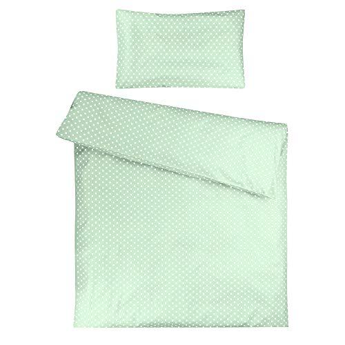 Sugarapple Kinderbettwäsche, 2 tlg. Set mit Deckenbezug 135x200 cm und Kissenbezug 80x80 cm, 100%...