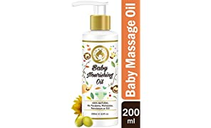 Mom & World Baby Nourishing Oil with Almond, Grapeseed, Wheatgerm, Olive and Coconut Oils, 200ml