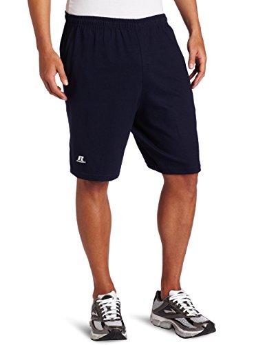 Russell Athletic Men's Cotton Performance Baseline Short, Navy, XXX-Large (US Size) (US Size)