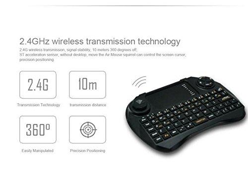 Latest SlyBox® Mini Keyboard X3 2 4G Wireless QWERTY Keyboard with