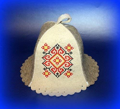 Rushnichok Ostern Verkauf Valentines Geschenk Sauna Hat Rot Schwarz Stickerei Ukrainische wyschywanka Banja (Winter Hut Verkauf)