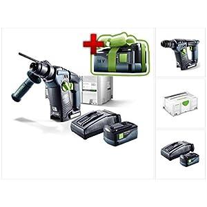 Jetzt mit GRATIS AKKU: Festool BHC 18 Li Plus Akku Bohrhammer SDS-Plus im Systainer mit 1x BP 5,2 Ah Akkupack und TCL 6…