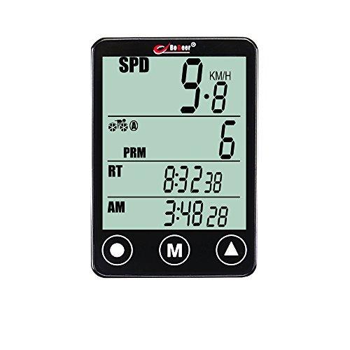 nellvita Wireless Bike Computer, Multi-Funktion Wasser beständig Fahrrad Kilometerzähler mit großem LCD-Hintergrundbeleuchtung Display Benutzer A/B Funktion Track Kalorien etc. 24Funktion