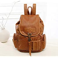 Aboygo PU Leather Ladies Fashion Backpacks, Mini Cute Backpack, Lightweight Anti Theft Rucksack, for women, for Ladies Brown