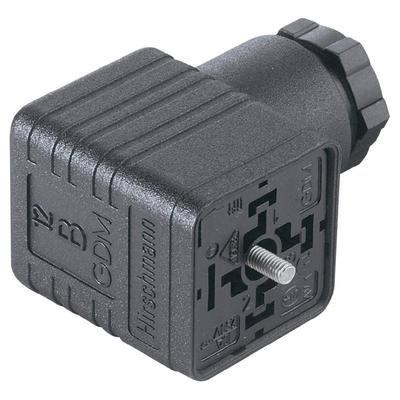 Hirschmann Rechteck-Steckverbinder GDM - Serie Schwarz GDM 3016 Pole:3 + PE Inhalt: 1St. (Rechteck-serie)