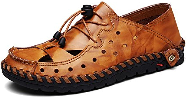 72da3ee8f1ef5f les hommes & eacute; sandales de cuir cuir cuir plage des sports marche  occasionnel pêcheur chaussures sandale et taille 11 12 13 b07dhdpbj2 parent  | Good ...