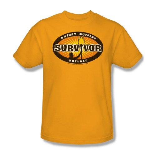 Cbs - Survivor / Survivor Gold-Burst Adult T-Shirt In Gold, XXX-Large, Gold