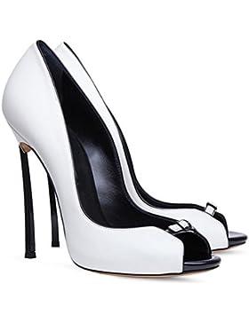 Donna Sbirciare Dito del piede Stiletto Le signore alto Tacco sandali Scarpe Moda Festa Ballo di fine anno nuziale...