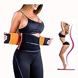 ZSZBACE Femme et Homme Ceintures de Sudation Serre Taille Corset Sculptant Cincher réglable Belt Body Shaper (s-XXL Orange) (S)