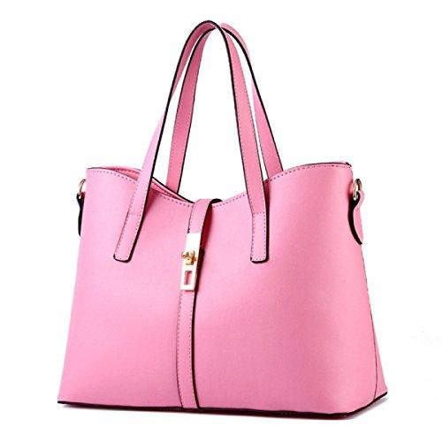FZHLY Sezione Di Estate Delle Donne Del Nuovo Grande Semplice Tracolla Messenger,Beige Pink
