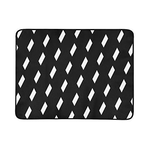 KAOROU Regelmäßige Parallelogramm-Muster-Muster-tragbare und Faltbare Deckenmatte 60x78 Zoll-handliche Matte für kampierende Picknick-Strand-im ()