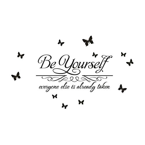 YESOT_ Wall Sticker Yesot inspirierende Wandaufkleber aus Papier, Wandaufkleber, Heimdekoration, Büro, Studio, Klavierraum, kreativer Wandaufkleber, Schlafzimmer, Wohnzimmer, Kinderzimmer, Dekoration