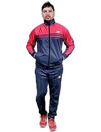 Poly Mens Tracksuit Sports HPS Suits Men Red for Track Super for Tracksuit Regular qRpqSfv