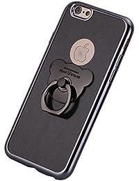 MoreChioce iphone 6S Plus Hülle,iPhone 6 Plus Hülle, Bling Diamant Durchsichtig Weich Silikon Handyhülle Stoßfest Schutzhülle mit Ring Stand Halter für iphone 6 Plus / 6S Plus