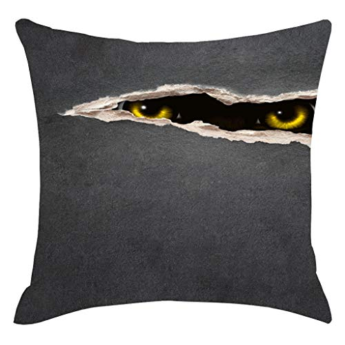 LSAltd Halloween Horror Shadow Kissenbezug Dekorative Sofakissenbezug - Shadow Langarm-shirt