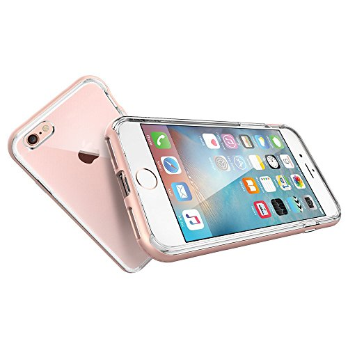 iProtect Apple iPhone 7, iPhone 8 Hülle Hybrid Hard Case TPU + PC Schutzhülle in transparent und roségold roségold