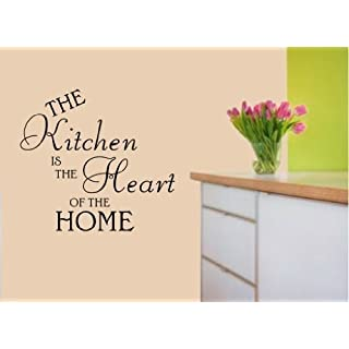 Kitchen Heart of the Home Vinyl Decal Wall Art Sticker WA23 - Small
