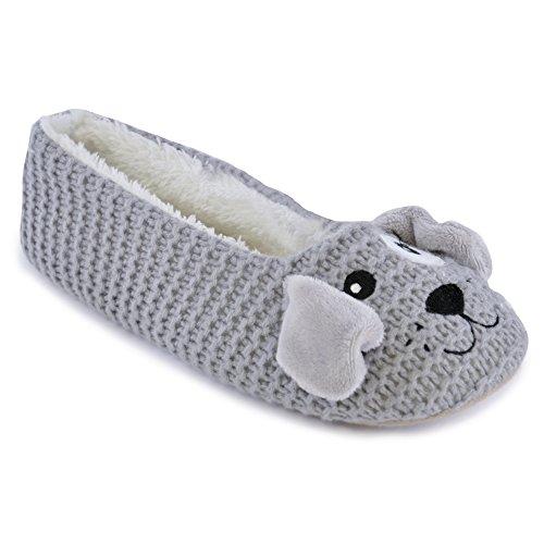 SlumberzzZ Pantofole Donna Grey
