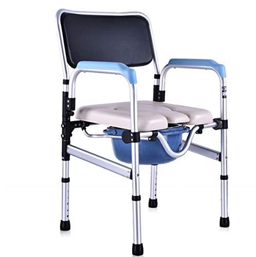 GHHFZ Klappstuhl Duschstuhl Alter Mann auf dem Stuhl sitzend Behinderte Toilette Toilettensitz Schwangere Frau Umzug Toilette Badestuhl Umzug Toilette