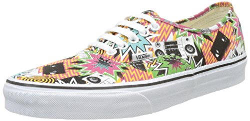 Vans Ua Authentic, Scarpe da Ginnastica Basse Uomo Multicolore (Freshness Mixed Tape/true White)