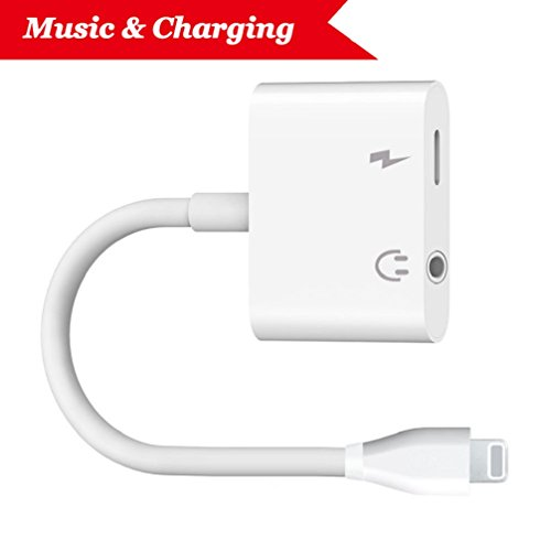 2 Für Mikrofon Ipad (Blitz zu 3.5mm Kopfhörer-Jack-Adapter für iPhone X 10 / iPhone 8/8 plus iPhone7 / 7 plus / 6S / 6 iPod / iPad. Beleuchten Sie Verbindungsstück zu 3.5 Millimeter-Zusatzkonverter-Kopfhörer-Jack-Adapter-Zusätzen. Kopfhörer Adapter Kopfhörer Aux Audio & Lade Adapter, Stecker Blitzkabel [Audio + Lade + Musik]. Unterstützen iOS 11 und später.)