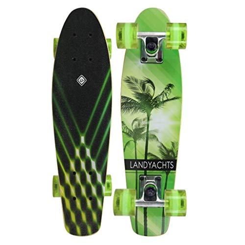 Skateboards sous-Marin Petit Panneau de Poisson Mini-Planche d'érable 57 * 15 * 11 Couleur Arc-en-Ciel débutant Pinceau Rue Voyager Scooter à Quatre Roues (Color : B, Size : 57 * 15 * 11cm)