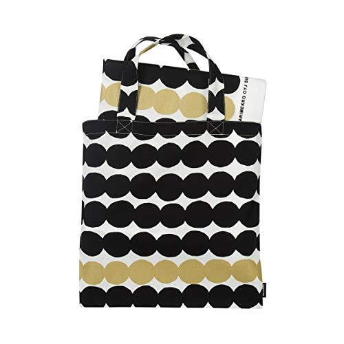 Marimekko - Räsymatto Tuch + Tasche, schwarz/weiß/Gold