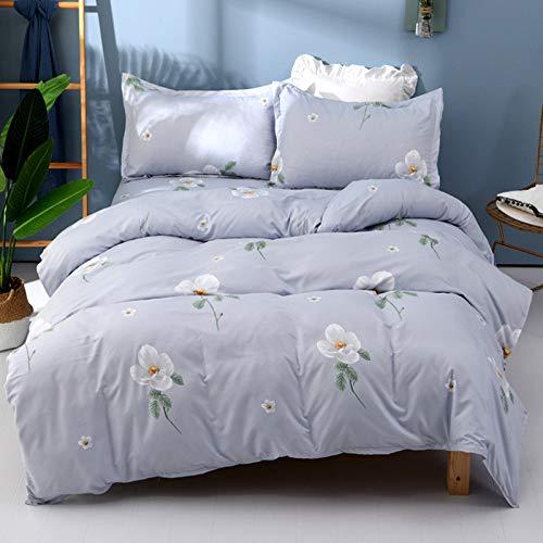 yaonuli New Sanding Verdickungstraum in die Blume Parfüm Baumwolle 2 m Vier Sätze: Bettbezug 200X230 + Blätter 230X240 + Kissenbezug 75X50X2