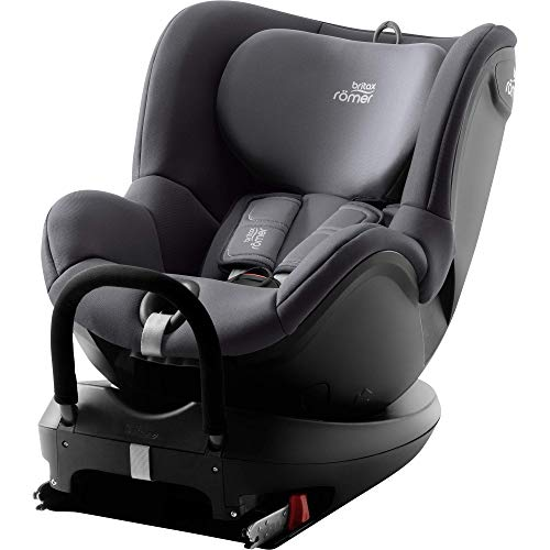 Britax Römer Kindersitz Geburt-18 kg, DUALFIX 2 R Autositz Drehbar Isofix Gruppe 0+/1, Storm Grey