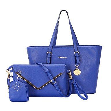 Le donne della moda classica borsa Crossbody,blu Beige