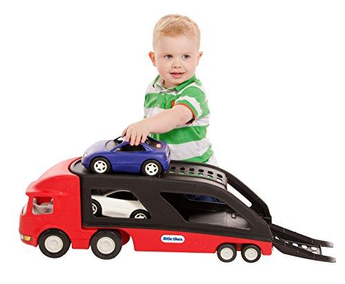 little tikes - 484964 - Véhicule Miniature - Modèle Simple - Big Car Carrier - Rouge/Noir