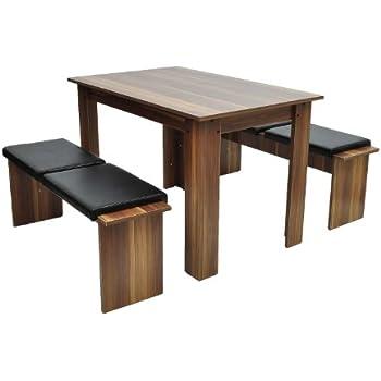 2x Sitzbank Mit Tisch Essgruppe Esszimmerbank Esszimmer Stühle Bank Sitz MDF