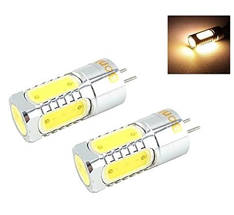 Bonlux 2-Packs 5W 12V GY6.35 G6.35 Bi-Pin JC Type LED
