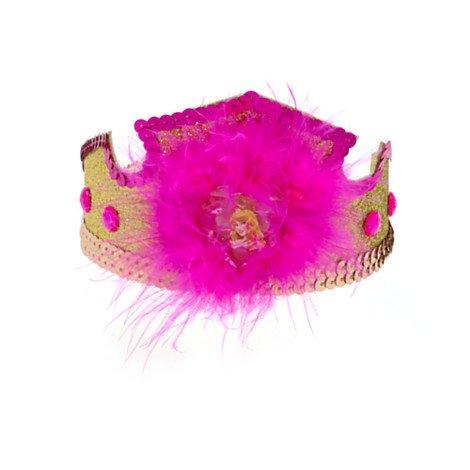 Disney Dornröschen - Prinzessinnen Diadem - Haarband mit Pailletten und Satin