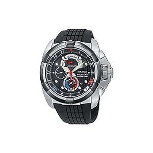 Seiko - SPC007P1 - Montre Homme - Quartz Chronographe - Bracelet Caoutchouc Noir