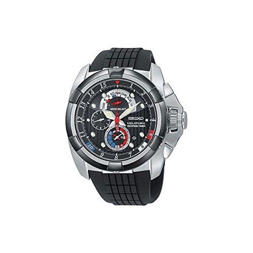 Seiko Herren-Armbanduhr XL Velatura Yachting Chronograph Quarz Plastik SPC007P1