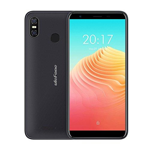 Ulefone S9 Pro smartphone libres - 5.5 pulgadas HD + (18: 9 pantalla completa) Android 8.1 Móviles 4G, súper delgado, MTK6739 Quad Core 2GB + 16GB, dual SIM, cámara triple (5MP + 13MP + 5MP), reconocimiento facial, 3300mAh batería - Negro