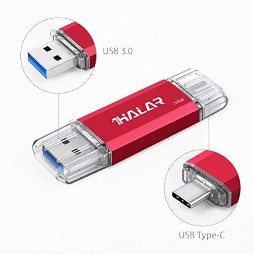 THKAILAR 32GB USB Stick OTG Speicherstick 2-in-1 Flash Drive USB 3.0 Memory Stick USB Type C Stick USB Pen Drive USB Flash Laufwerk für PC/Laptop/Notebook, und andere USB-Geräte (32GB, rot)