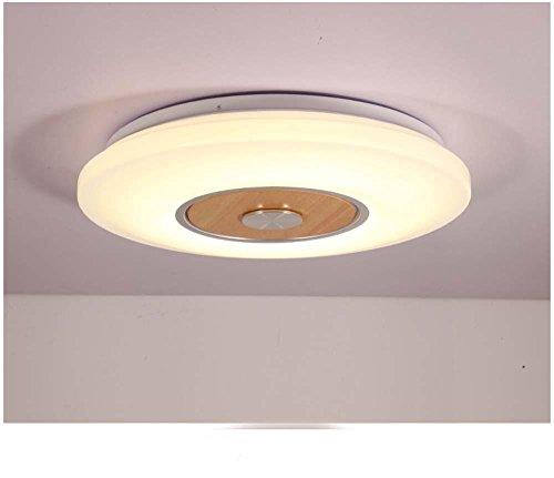 LINA-Ciondolo Vintage retrò tonalità chiare Contemporanea Ciondolo plafoniera luce metallo soffitto illuminazione lampada Lampada da soffitto in legno tondo , 40cm